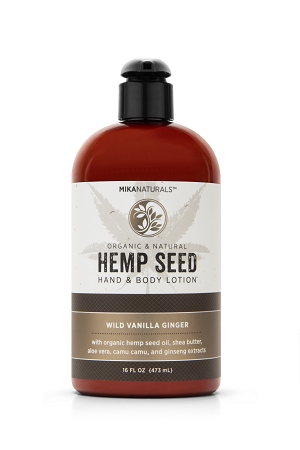 WILD VANILLA GINGER HEMP SEED HAND & BODY LOTION